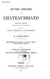 Œuvres complètes de Chateaubriand: Volume1