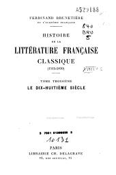 Histoire de la littérature française classique: 1515-1830, Volume2