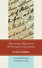 Recovering Hegel from the Critique of Leo Strauss