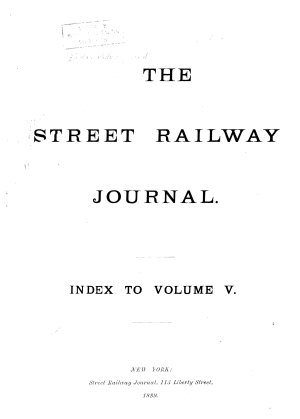 The Street Railway Journal