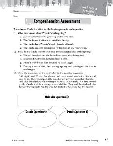 Tuck Everlasting Comprehension Assessment Book