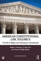 American Constitutional Law  Volume II PDF