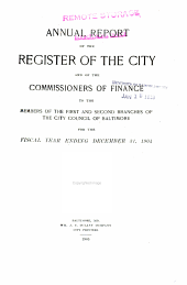 Report of the City Officers and Departments