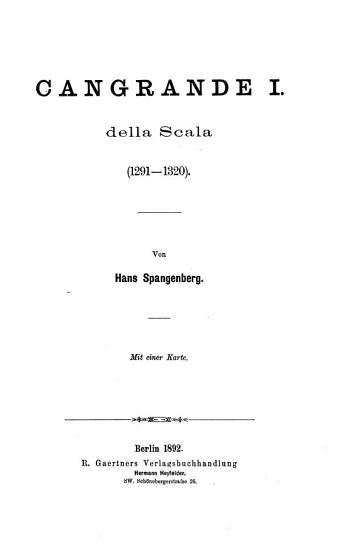 Cangrande I  della Scala  1291 1320  PDF