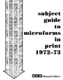 Subject Guide to Microforms in Print PDF