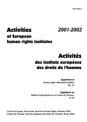 Activities of European Human Rights Institutes  2001 2002 PDF