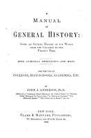 A Manual of General History PDF