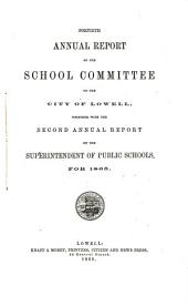 Annual Report of the School Committee and the ... Annual Report of the Superintendent of Public Schools: Volume 40