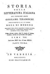 Storia della letteratura italiana: Dall' anno MDC fino all' anno MDCC. 2 pts