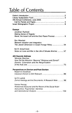 Israel Studies Forum PDF