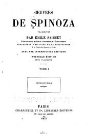 Oeuvres de Spinoza: Volume1