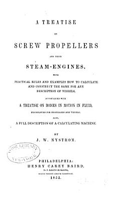 A Treatise on Screw Propellers and Their Steam engines PDF