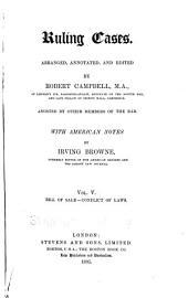 Ruling Cases: Volume 5