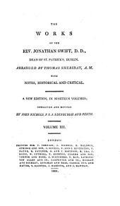 The Works of the Rev. Jonathan Swift, D.D., Dean of St. Patrick's, Dublin: Volume 12
