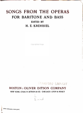 Songs from the Operas for Baritone and Bass