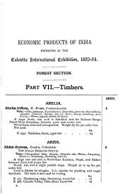 Economic Products of India Exhibited in the Economic Court, Calcutta International Exhibition, L883-84: Timbers