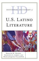 Historical Dictionary of U S  Latino Literature PDF