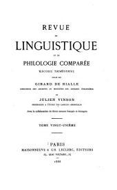 Revue de linguistique et de philologie comparée: Volume21