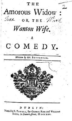 The amorous widow  or  wanton wife  A comedy     The second edition  An adaptation of Moli  re s  George Dandin