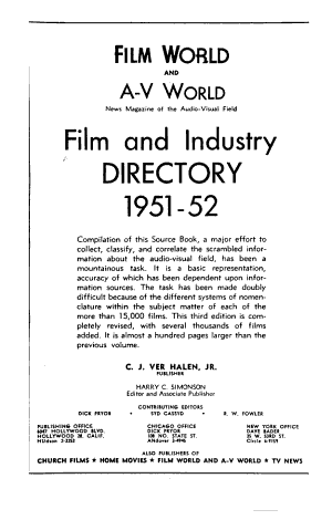 Film and Industry Directory
