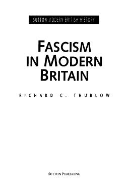 Fascism in Modern Britain PDF