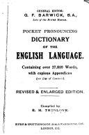 Pocket Pronouncing Dictionary of the English Language PDF