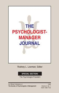 The Psychologist Manager Journal PDF
