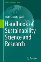 Handbook of Sustainability Science and Research PDF