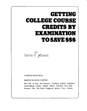 Getting College Course Credits by Examination to Save     PDF