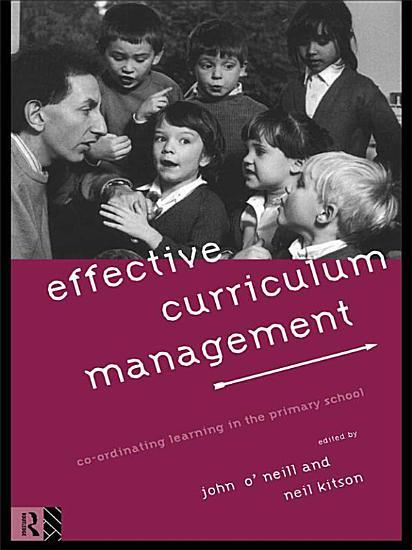 Effective Curriculum Management PDF