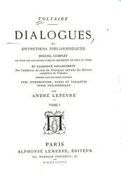 Dialogues et entretiens philosophiques: Volume1