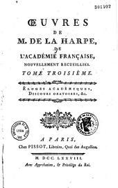 Oeuvres diverses de M. de La Harpe