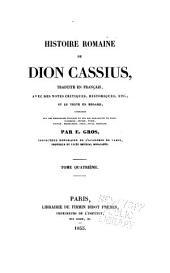 Histoire romaine de Dion Cassius: Volume4
