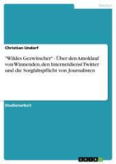 """""""Wildes Gezwitscher"""" - Über den Amoklauf von Winnenden, den Internetdienst Twitter und die Sorgfaltspflicht von Journalisten"""