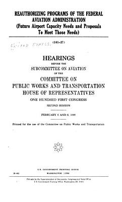 Reauthorizing Programs of the Federal Aviation Administration PDF