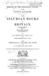The Silurian Rocks of Britain: Scotland, by B. N. Peach and John Horne, with petrological chapters and notes by J. J. H. Teall