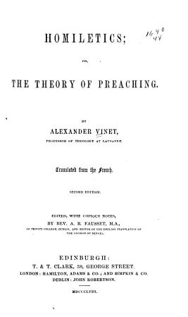 Homiletics  Or  The Theory of Preaching PDF