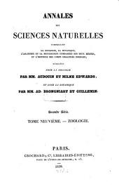 Annales des sciences naturelles: Volume 9