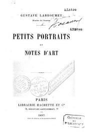 Petits portraits et notes d'art