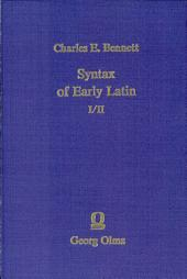 Syntax of Early Latin: Volume 1