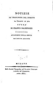 Opere di Filippo Baldinucci: Notizie de'professori del disegno da Cimabue in qua