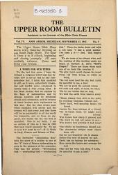 Upper Room Bulletin: Volume 4, Issue 7