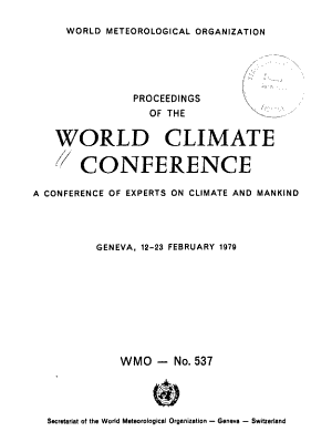 Proceedings of the World Climate Conference PDF