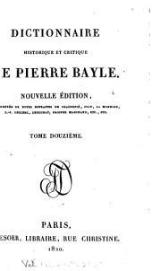 Dictionnaire historique et critique de Pierre Bayle: Volume12