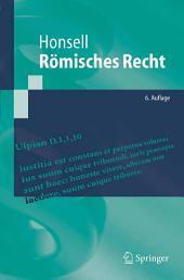 Römisches Recht: Ausgabe 6