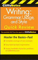 CliffsNotes Writing  Grammar  Usage  and Style Quick Review  3rd Edition PDF