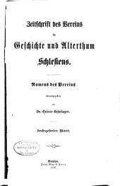 Zeitschrift des Vereins für Geschichte Schlesiens: Band 16