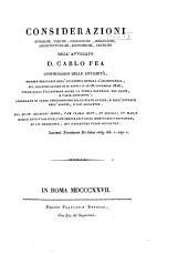 Miscellanea antiquario-idraulica dell'avvocato D. Carlo Fea ...