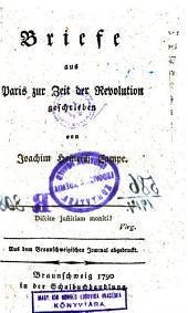Briefe aus Paris zur zeit der Revolution, geschrieben