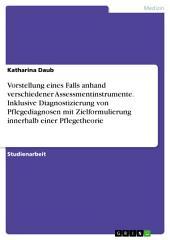 Vorstellung eines Falls anhand verschiedener Assessmentinstrumente. Inklusive Diagnostizierung von Pflegediagnosen mit Zielformulierung innerhalb einer Pflegetheorie
